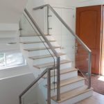 Custom Glass Railing, Charlie Lake, BC