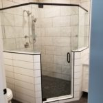 Frameless Neo Angle Shower installed in Dawson Creek, BC